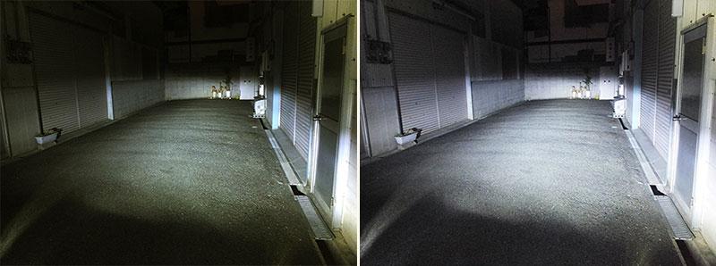 LEDバルブとの明るさ比較